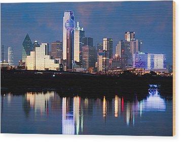 Dallas Skyline May 2015 Wood Print