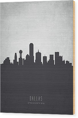 Dallas Texas Cityscape 19 Wood Print by Aged Pixel