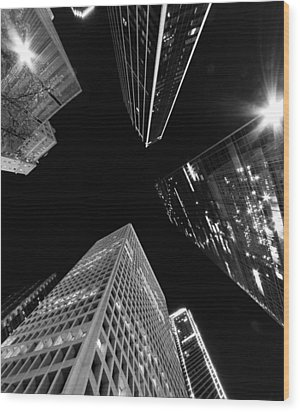 Dallas Up Wood Print by John Gusky