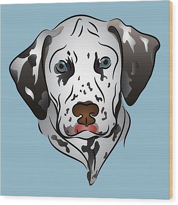Dalmatian Portrait Wood Print by MM Anderson