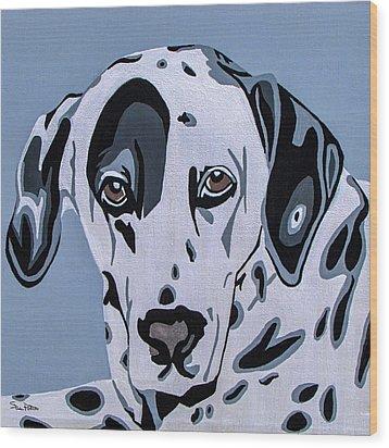 Dalmatian Wood Print by Slade Roberts