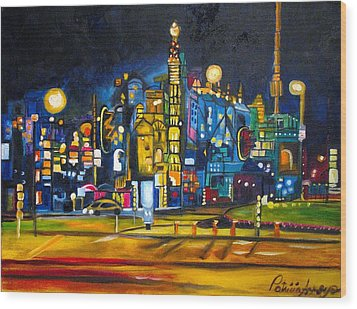 Dam Square Wood Print by Patricia Arroyo