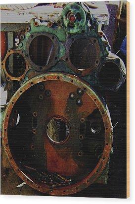 Wood Print featuring the photograph Damaged by Cyryn Fyrcyd