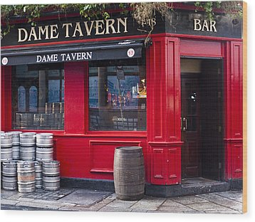 Dame Tavern Wood Print by Rae Tucker