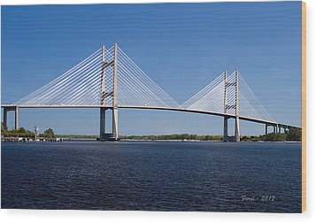 Dames Point Bridge Wood Print