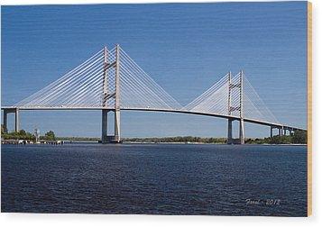Dames Point Bridge Wood Print