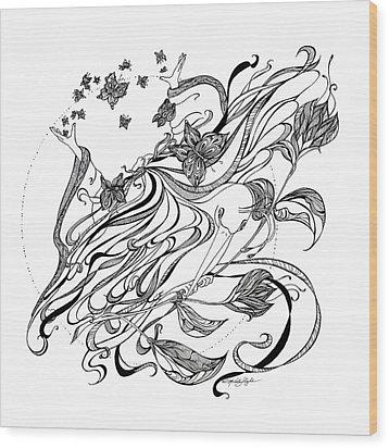 Damia Wood Print