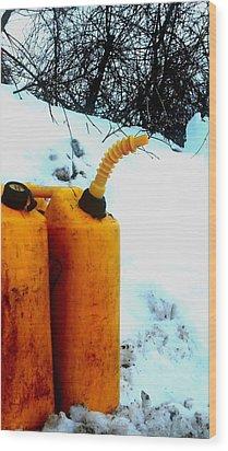 Wood Print featuring the photograph Damn Can by Cyryn Fyrcyd