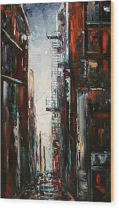 Damp And Cold Wood Print by Debra Hurd