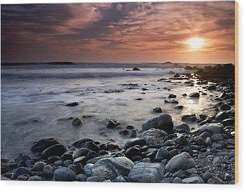 Dana Point Shoreline Wood Print by Eric Foltz