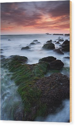 Dana Point Sunset Wood Print by Eric Foltz