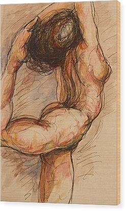 Dance After Rodin Wood Print by Dan Earle