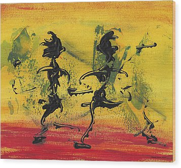Dance Art Dancing Couple Viii Wood Print by Manuel Sueess