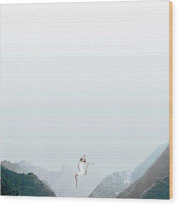 Dance Wood Print by Caterina Theoharidou