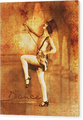 Dance Wood Print by Cathie Tyler