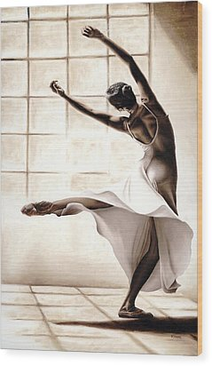 Dance Finesse Wood Print by Richard Young