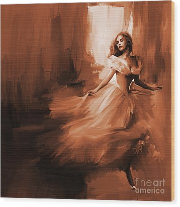 Dance In A Dream 01 Wood Print