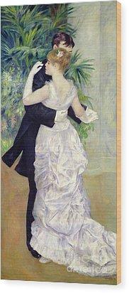 Dance In The City Wood Print by Pierre Auguste Renoir