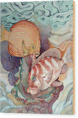 Dance Macabre Wood Print by Liduine Bekman