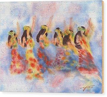 Dance Of Paradise Wood Print by John YATO