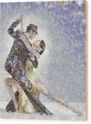 Dance Of Romance Wood Print by Shirley Stalter