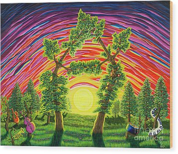 Dance Of Sunset Wood Print