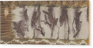 Dance Of The Eucalyptus Leaves Wood Print by Carolyn Doe