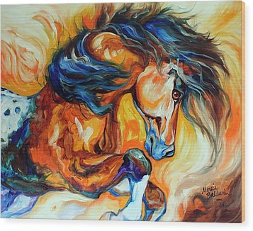 Dance Of The Wild One Wood Print by Marcia Baldwin