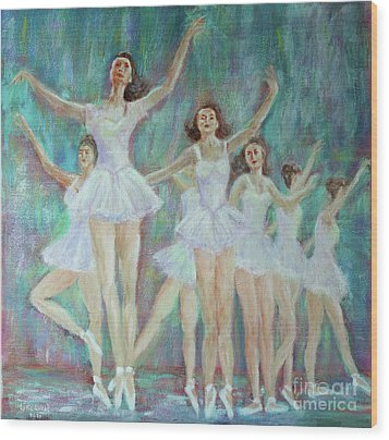 Dance Rehearsal Wood Print