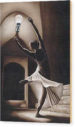 Dance Seclusion Wood Print by Richard Young