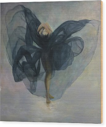 Dance With A Black Shawl Wood Print