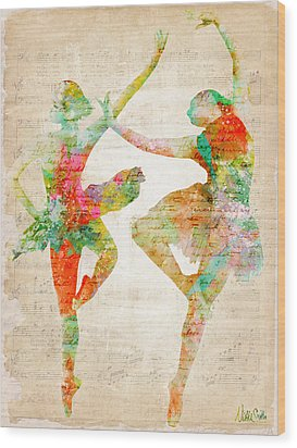 Dance With Me Wood Print by Nikki Smith