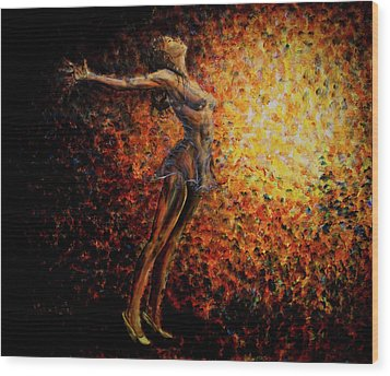 Dancer 03 Wood Print by Nik Helbig