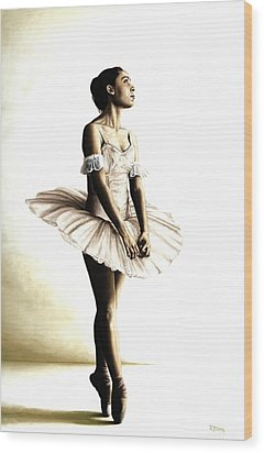 Dancer At Peace Wood Print by Richard Young