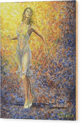 Dancer Away Wood Print
