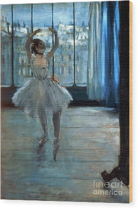 Dancer In Front Of A Window Wood Print by Edgar Degas