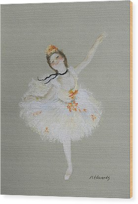 Dancer Wood Print by Marna Edwards Flavell