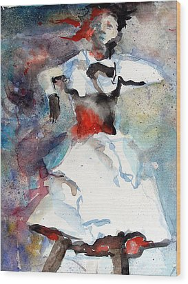 Dancer Wood Print by Mindy Newman