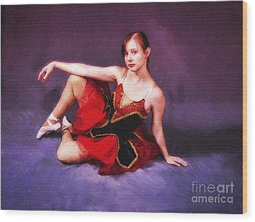 Dancer No. 6  ... Wood Print by Chuck Caramella