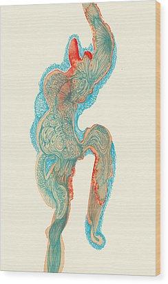 Dancer- #ss14dw023 Wood Print by Satomi Sugimoto