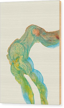 Dancer- #ss14dw039 Wood Print by Satomi Sugimoto