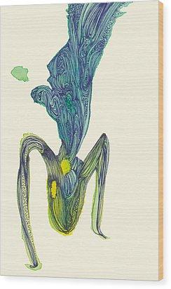 Dancer - #ss14dw045 Wood Print by Satomi Sugimoto
