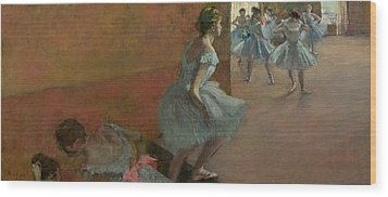Dancers Ascending A Staircase Wood Print by Edgar Degas