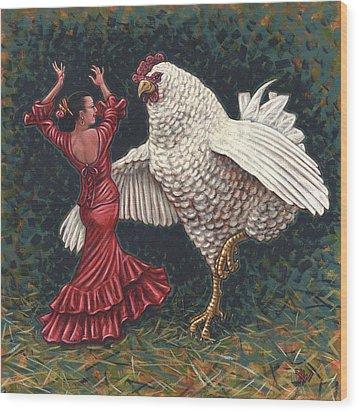 Dancers El Gallo Wood Print