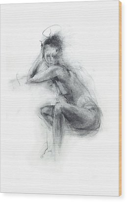 Dancer's Gaze Wood Print by Christopher Williams