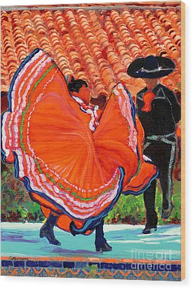 Dancers In Old Town San Diego California Wood Print by RD Riccoboni