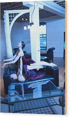 Dancers Wood Print by Michael Furlow