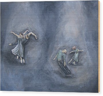 Dancers Wood Print by Michelle Iglesias