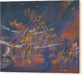 Dancin Wood Print by Howard Stroman