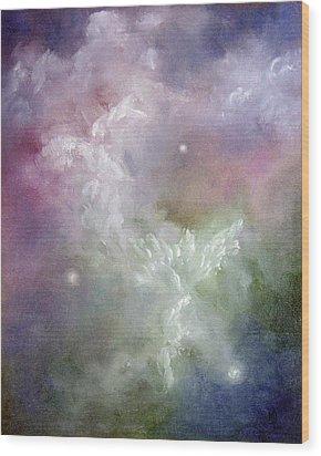 Dancing Angels Wood Print by Marina Petro